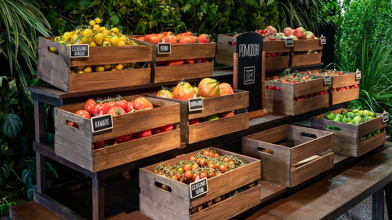 Frutta e verdura nel Pop-up Farm Market